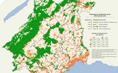 Statistique de l'utilisation du sol en 2013/2018, district de Morges
